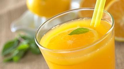 عصير الحامض والبرتقال
